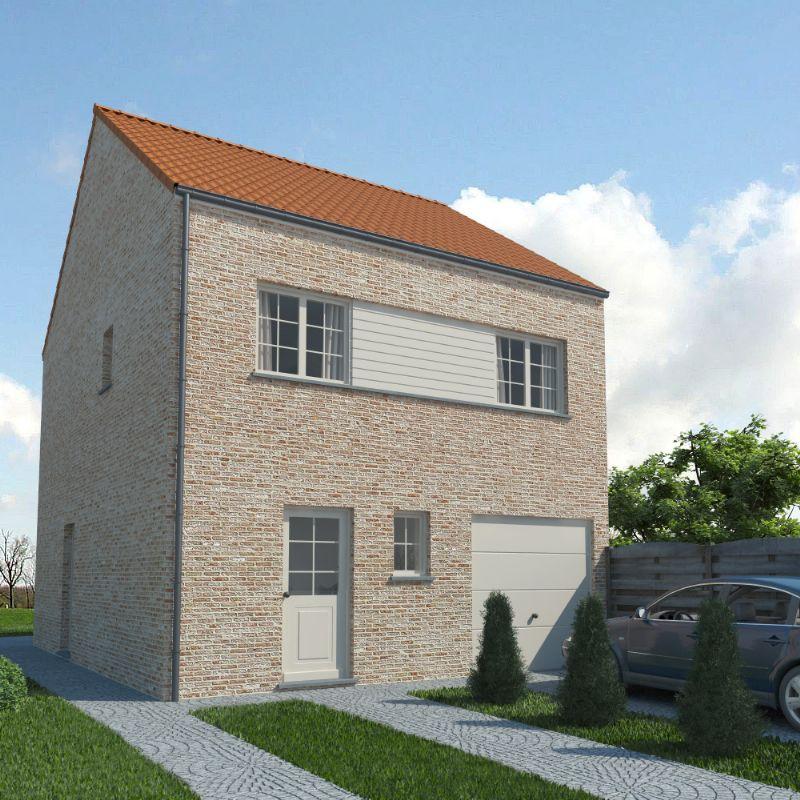 Dentergem: Nieuw te bouwen halfopen woning