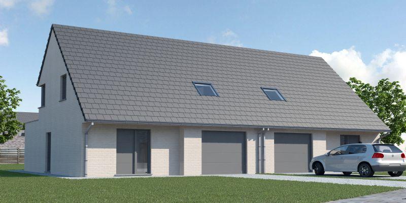 Wevelgem: Nieuw te bouwen halfopen woning