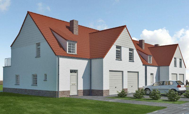 Machelen (Zulte): Nieuw te bouwen halfopen woning
